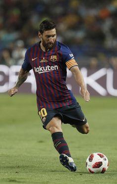 Supercup 2018 Lionel Messi Barcelona, Barcelona Football, Messi Soccer, Messi 10, Football Background, Lionel Messi Wallpapers, France Football, Messi Photos, Leonel Messi