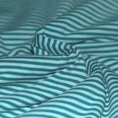 Tissu Jersey à Rayures 3mm Essence Menthe