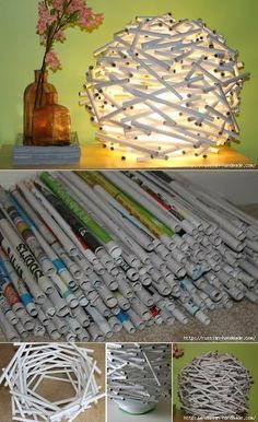 EL MUNDO DEL RECICLAJE: DIY recicla papel de periódico