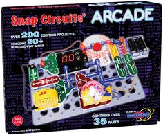 Snap Circuits Arcade - Our favorite way to play with electricity...  Snap Circuits!  This new set adds the fun of creating your own arcade games!  For ages 8 and up