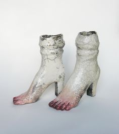 Kostanek (Polish b. Sculptures Céramiques, Sculpture Art, Halle Saint Pierre, Bizarre Art, Pottery Sculpture, Unique Shoes, Illustrations, Best Artist, Magical Girl