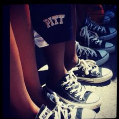 I love Anything Pitt because my daughter plays basketball for University of Pittsburgh! Hail to Pitt! Photo by Mikaela! Pitt Basketball, Basketball Shoes, Pitt Panthers, Panthers Football, University Of Pittsburgh, Shoe Sale, Plays, Converse Chuck Taylor, To My Daughter