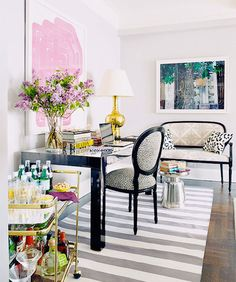 Mix and match animal prints to accent a room.