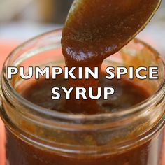 Homemade Pumpkin Spice Syrup - - This mouth-watering pumpkin spice syrup recipe is quick and easy to make, will satisfy your craving without the junk (includes a sugar-free version), and saves money! Pumpkin Spice Creamer, Pumpkin Sauce, Pumpkin Spice Coffee, Spiced Coffee, Starbucks Pumpkin Spice Syrup Recipe, Pumpkin Spice Sauce Recipe, Pumpkin Syrup Recipe, Pumpkin Coffee Recipe, Healthy Coffee Creamer