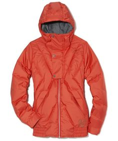 Burton ($235, burton.com) Rating: 4.5 The champ of the category, its down is slightly thicker at the coat's midsection, so your torso stays toasty. The Velcro cuff closures, cinched hood, and hem are mogul-friendly; après-ski, the bold orange color partners perfectly with denim or neutrals.   - GoodHousekeeping.com
