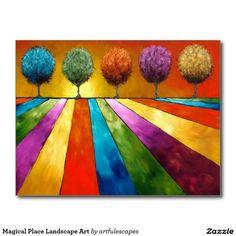 Magical Place Landscape Art Postcard