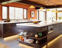 Kitchen decorations on pinterest islands burnt orange kitchen and