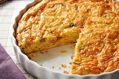 Crustless Vegetable and Ham Quiche recipe - NEW!