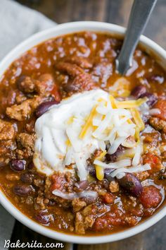This recipe for My Best Chili is a major favorite around here! Its a hearty warming chili made with ground beef bacon sausage and just the right amount of kick. Recipes with ground beef Best Chili Recipe, Chilli Recipes, Crockpot Recipes, Soup Recipes, Dinner Recipes, Cooking Recipes, Chili Recipe With Beef Broth, Chili Recipe With Bacon, Chile Recipes Beef