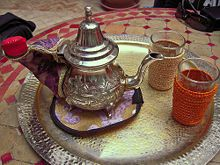 Here is a more traditional layout for Moroccan tea