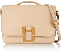 Sophie Hulme Soft Flap leather shoulder bag