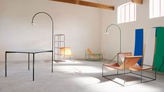Best known for their inventive furniture and bold splashes of colour, Belgian design duo Muller van Severen live and work in a small town named Evergem just outside of Ghent.