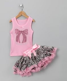 So Girly & Twirly Pink Bow Tank & Pettiskirt - Toddler & Girls Little Girl Outfits, Cute Outfits For Kids, Toddler Girl Outfits, Boy Outfits, Toddler Girls, Infant Toddler, Princess Outfits, Fairy Dress, Tween Fashion