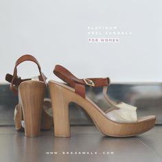 Sandalio Platino de tacón para Mujer. Compra en la Tienda Online de Break&Walk