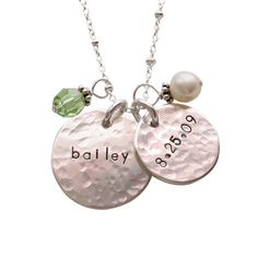 hammered charming duo necklace - EXCLUSIVE