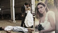 Is this like a thing now?? Zombie wedding photos??