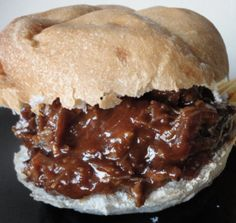 BBQ Pulled Goose Sandwiches - Cook in slow cooker with a pot of coffee. Venison Recipes, Meat Recipes, Crockpot Recipes, Cooking Recipes, Rabbit Recipes, Paleo Meals, Chicken Recipes, Wild Game Recipes, Fish Recipes