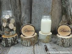 10 Tree Stumps For Mason Jar Centerpieces by ChurchHouseWoodworks, $18.95