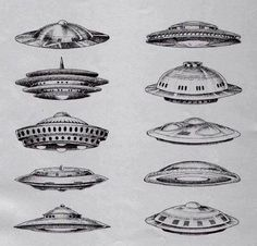 Chaosophia218 — ancientufo: Draws from various UFO sightings...