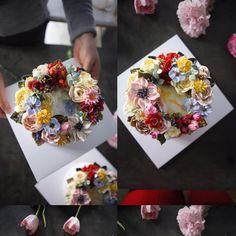 ㅡ 꽃놀이. 는 여기서 즐겨요 ㅡ❤ s o o c l a s s. ㅡ A course student work ㅡ  #compositebouquet #flower #cake #flowercake #partycake #birthday #weddingcake #cupcake #buttercreamcake #buttercream #designcake #soocake #플라워케익 #수케이크 #꽃스타그램 #플라워컵케익 #버터크림플라워케이크 #베이킹클래스 #플라워케익클래스 #웨딩케이크 #생일케익 #수케이크 #장미 #ケーキ #花 #蛋糕 #花蛋糕  www.soocake.com vkscl_energy@naver.com
