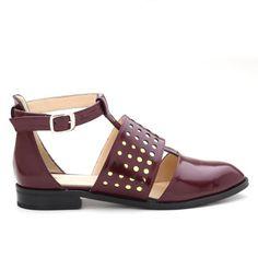 Bordo Mat Rugan Babet | BABET/OXFORD | Modsimo | Kadınlara Özel Ayakkabı Alışveriş Sitesi