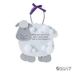 """""""Talk To The Shepherd"""" Lamb Craft Kit. Remind Vacation Bible School students and church groups to say their prayers! This foam craft is easy to . Lamb Craft, When You Cant Sleep, The Lost Sheep, Sheep Crafts, Teaching Supplies, Hobby Supplies, Bible Crafts, Jesus Crafts, Vacation Bible School"""