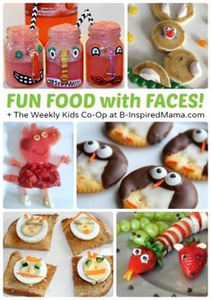 Fun Food with Faces + The Weekly Kids Co-Op Link Party