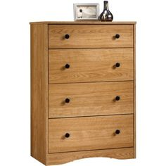 Sauder Beginnings 4-Drawer Dresser, Highland Oak - Walmart.com