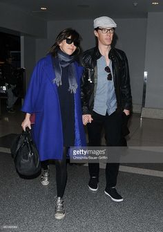 ニュース写真 : Sophie Hunter and Benedict Cumberbatch are seen...