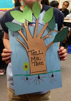 Earth Day Freebie based on the book Tell Me, Tree by Gail Gibbons. Students record facts they learned about trees after reading a non-fiction book and assemble the easy craft!
