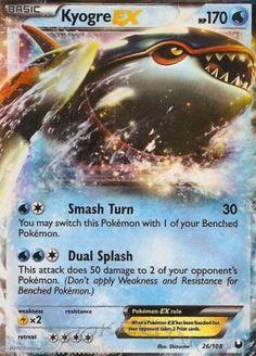 Pokemon Card Dark Explorers Ultra Rare Holo Kyogre EX Mint