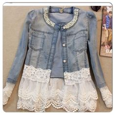 Jeans jacket cute