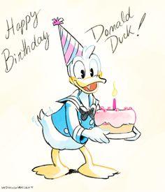 happy anniversary to my favorite duck! Happy Birthday Disney, Happy Birthday Pictures, Mickey Mouse Birthday, Happy Birthday Cards, Disney Duck, Disney Nerd, Disney Love, Walt Disney, Birthday Painting