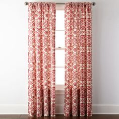 JCPenney Home™ Landry Rod-Pocket/Back-Tab Curtain Panel  found at @JCPenney   For Master Bedroom