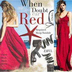 How To Wear Red Maxi Outfit Idea 2017 - Fashion Trends Ready To Wear For Plus Size, Curvy Women Over 20, 30, 40, 50