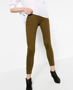 ZARA - WOMAN - SKINNY SIX ZIP TROUSERS