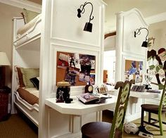 Bunked with desk end...great idea!