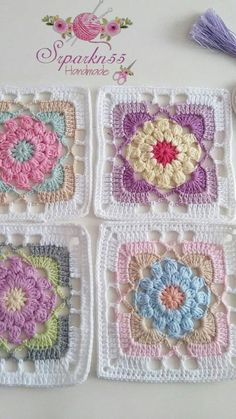 Mutlu akşamlar 💕💕💕💕💕 İplik gazzal baby cotton himalaya deluxe b. - Crochet and Knitting Patterns Mutlu akşamlar 💕💕💕💕💕 İplik gazzal baby cotton himalaya deluxe b. - Crochet and Knitting Patterns. Crochet Motifs, Granny Square Crochet Pattern, Crochet Blocks, Crochet Flower Patterns, Afghan Crochet Patterns, Crochet Squares, Crochet Designs, Crochet Stitches, Free Crochet