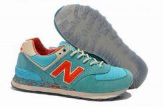 Joes New Balance ML574CBO Aqua Blue Crimson Mens Shoes