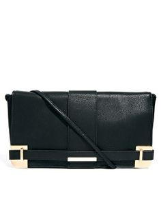 Image 1 ofASOS Clutch Bag With Corner Plate And Side Strap