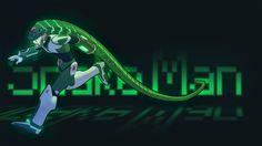 Snake Man (Fan Art by asashi kami) Megaman 11, Megaman Series, Monster Art, Mega Man, 8 Bit, Game Character, Gemini, Illustrators, Snake