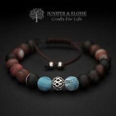 Handcrafted Adjustable Matte Agate Bracelet