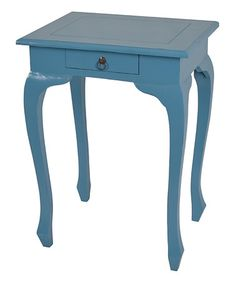 119.99-TEAK This Blue Tammy Side Table by Jeffan is perfect! #zulilyfinds 22W X 18D X 29H