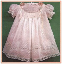 Heirloom smocked baby dress-