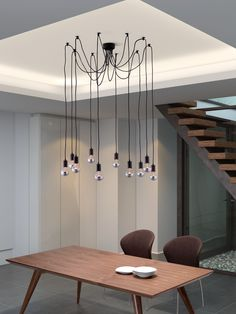 A conversation piece that is truly stunning. The Zuo Modern Contemporary Fog Black 10 Light Pendant.