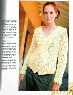 Puxe transversais oito Instruções Tricot - Crochet Patterns