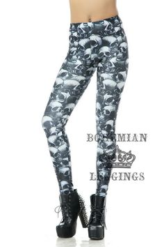 Fun Skulls Graveyard Leggings