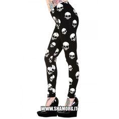 White Skulls Leggings! ☠ 💀 🤘 Un must-have!  #shamorg #gothicfashion #skull #skulls #wickedclothing