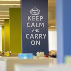 Keep Calm And Carry On Words Wall Stickers – DKK kr. 186