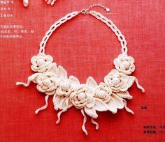 Gallery.ru / Фото #69 - Кружевные ожерелья и колье - Alleta... There are diagrams for making this pretty necklace!!